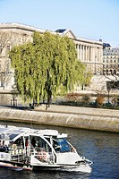 Tourist boat on river Seine, Paris, France