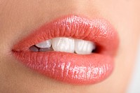 Close up of young woman's mouth (thumbnail)