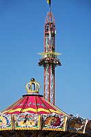 Detail of fairground rides at Oktoberfest, Munich, Germany