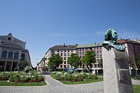 G&#228;rtnerplatz, Friedrich Von Gartner statue, Munich, Bavaria, Germany
