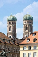 Frauenkirche church towers, Munich, Bavaria, Germany
