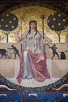 Mosaic below Friedensengel, Munich, Bavaria, Germany