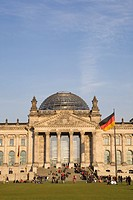 Exterior of Reichstag building, Berlin, Germany
