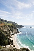 Coastline near Bixby Bridge, Big Sur, California, USA
