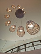 Ornate, modern chandelier in a modern home