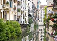 Apartments by the waterways, Padova, Veneto, Italy