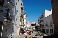 Plaça de la Vila, old town, Ibiza, Balearic Islands, Spain