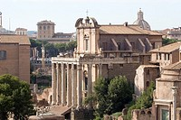 Antonino and Faustina temple, Roman forum, Rome, Italy