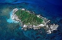 Seychelles, Cocos Island, near La Digue aerial view