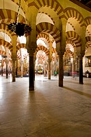 Spain, Andalusia, Cordoba, historic part listed as World Heritage by UNESCO, the cathedral of Cordoba Mezquita, a former mosque, Ummayad Islamic archi...