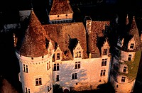 France, Dordogne, Milandes Castle Formerly Owned by Josephine Baker aerial view