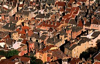 France, Rhone, Lyon, Old City Roofs