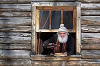 Canada, Quebec Province, Monteregie Region, Rigaud, La Sucrerie de la Montagne sugar hut, Pierre Faucher, the owner