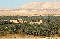 Egypt, Upper Egypt, Libyan Desert, Kharga Oasis, Hibis Temple