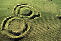 Ireland, County Meath, site of Hill of Tara aerial view