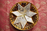 Indian sweets in star shape