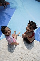 Two girls at pool
