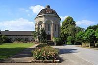D-Dortmund, Ruhr area, North Rhine-Westphalia, D-Dortmund-Brackel, main cemetery Dortmund, columbarium, historic crematorium, New Objectivity, histori...