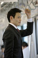 Businessman traveling, portrait