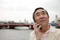 Close-up of a senior man using mobile phone (thumbnail)