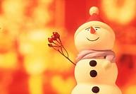 Snowman, close_up