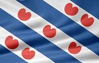 Flagge von Fryslan _ Niederlande