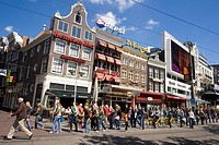 Amsterdam Rembrandtsplein street cafes peole