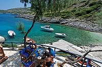 Griechenland Zakynthos Taverne im Nordosten bei Agios Nikolaos