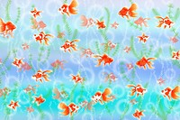 School of goldfish under water