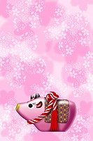 Toy ox for Japanese new year, illustration