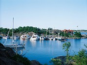 Boats in the Stockholm archipelago.