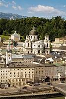 Old town as seen from the Hettwer Bastei, Salzburg, Austria
