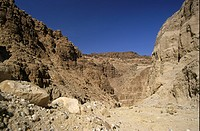 Jordan _ Eroded landscape near Wadi Mujib, Dead Sea