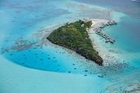 Aerial view of Sofitel Bora Bora Motu Private Island Resort Hotel, Bora Bora, Society Islands, French Polynesia, South Pacific, Oceania