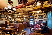 Guests in an old fishermens bar, Wyk, Foehr island, North Frisian Islands, Schleswig_Holstein, Germany