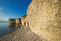 limestone cliffs, Steep Rock, along Lake Manitoba, Manitoba, Canada