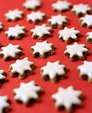 Star shaped gingerbread cookies.