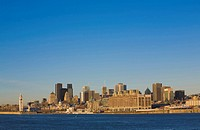 Montreal skyline and Saint_Lawrence River viewed from Saint_Helen´s Island, Montreal, Quebec, Canada