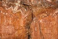 Petroglyphs _ Aboriginal rock art, Nourlangie, Kakadu, Australia