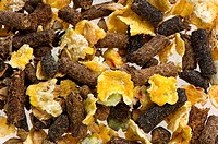 Animal feed, close_up of mixed blend, used for farm animal feed