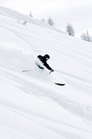 Person skiing. Switzerland