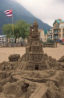Sculpture, sand sculpting, Harrison Hot Springs, British Columbia, Canada