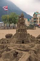 Sculpture, sand sculpting, Harrison Hot Springs, British Columbia, Canada