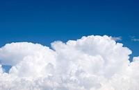 White cloud on blue sky.