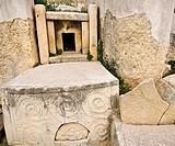 Inner niche with spirals, Tarxien Temple, Valletta, Malta