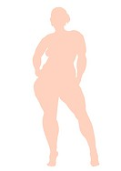 OBESE WOMAN, ILLUSTRATION