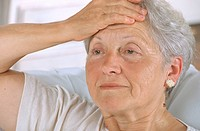 ELDERLY PERSON WITH HEADACHE Model