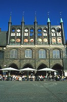 town hall, marketplace, Hanseatic City Luebeck, Schleswig_Holstein, Germany