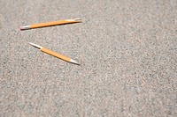 Pencil that has been snapped in frustration