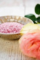 Rose and bath salts